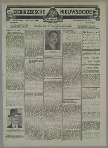 Zierikzeesche Nieuwsbode 1940-08-07