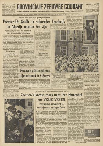 Provinciale Zeeuwse Courant 1958-06-14