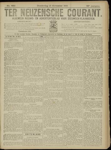 Ter Neuzensche Courant. Algemeen Nieuws- en Advertentieblad voor Zeeuwsch-Vlaanderen / Neuzensche Courant ... (idem) / (Algemeen) nieuws en advertentieblad voor Zeeuwsch-Vlaanderen 1919-11-13