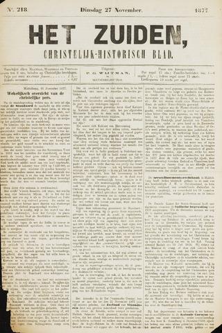 Het Zuiden, Christelijk-historisch blad 1877-11-27