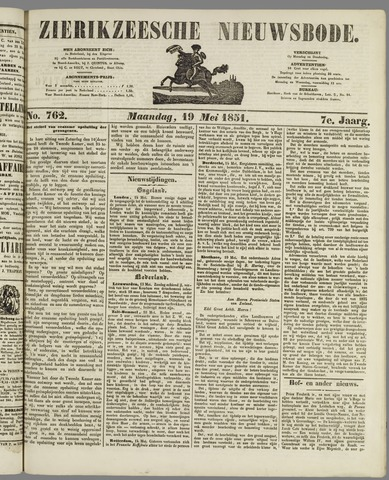 Zierikzeesche Nieuwsbode 1851-05-19