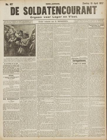 De Soldatencourant. Orgaan voor Leger en Vloot 1917-04-15