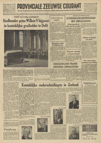 Provinciale Zeeuwse Courant 1958-04-30