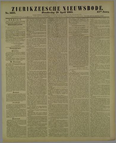 Zierikzeesche Nieuwsbode 1889-04-18