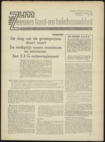 Zeeuwsch landbouwblad ... ZLM land- en tuinbouwblad 1964-04-03