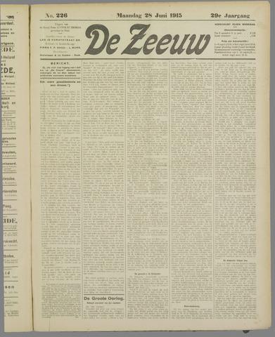 De Zeeuw. Christelijk-historisch nieuwsblad voor Zeeland 1915-06-28