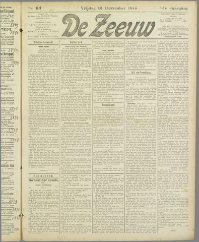 De Zeeuw. Christelijk-historisch nieuwsblad voor Zeeland 1919-12-12