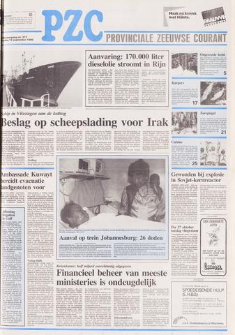 Provinciale Zeeuwse Courant 1990-09-14