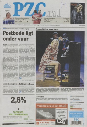 Provinciale Zeeuwse Courant 2010-09-15