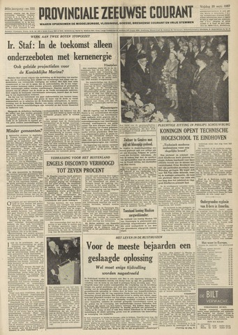 Provinciale Zeeuwse Courant 1957-09-20