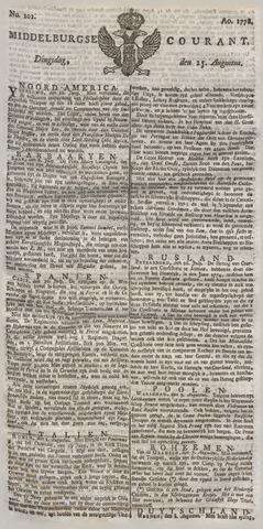 Middelburgsche Courant 1778-08-25