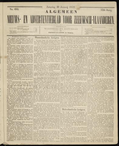 Ter Neuzensche Courant. Algemeen Nieuws- en Advertentieblad voor Zeeuwsch-Vlaanderen / Neuzensche Courant ... (idem) / (Algemeen) nieuws en advertentieblad voor Zeeuwsch-Vlaanderen 1872-01-20