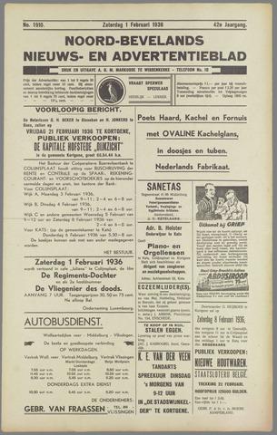 Noord-Bevelands Nieuws- en advertentieblad 1936-02-01