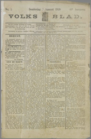 Volksblad 1920