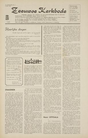 Zeeuwsche kerkbode, weekblad gewijd aan de belangen der gereformeerde kerken/ Zeeuwsch kerkblad 1968-07-04