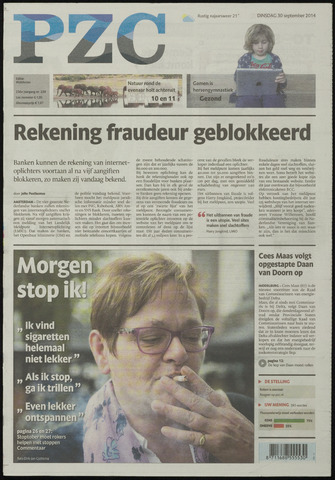 Provinciale Zeeuwse Courant 2014-09-30