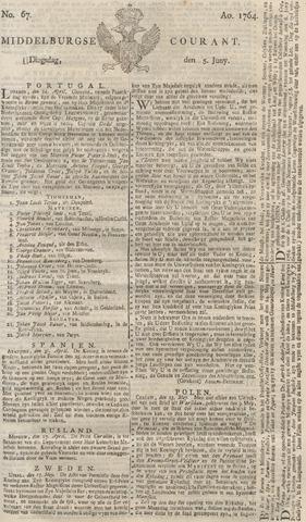 Middelburgsche Courant 1764-06-05