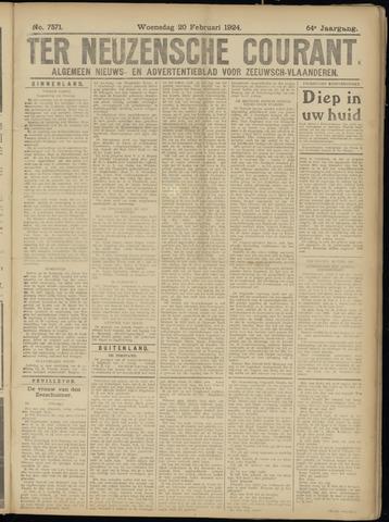 Ter Neuzensche Courant. Algemeen Nieuws- en Advertentieblad voor Zeeuwsch-Vlaanderen / Neuzensche Courant ... (idem) / (Algemeen) nieuws en advertentieblad voor Zeeuwsch-Vlaanderen 1924-02-20