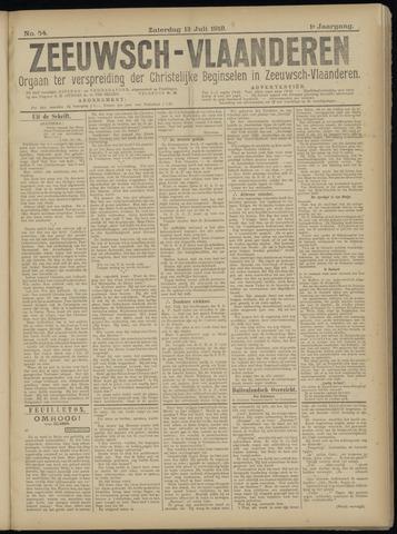 Luctor et Emergo. Antirevolutionair nieuws- en advertentieblad voor Zeeland / Zeeuwsch-Vlaanderen. Orgaan ter verspreiding van de christelijke beginselen in Zeeuwsch-Vlaanderen 1918-07-13