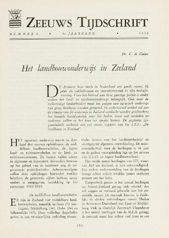 Zeeuws Tijdschrift 1959-11-01