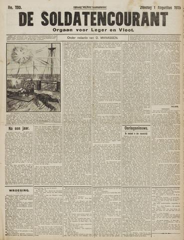 De Soldatencourant. Orgaan voor Leger en Vloot 1915-08-01