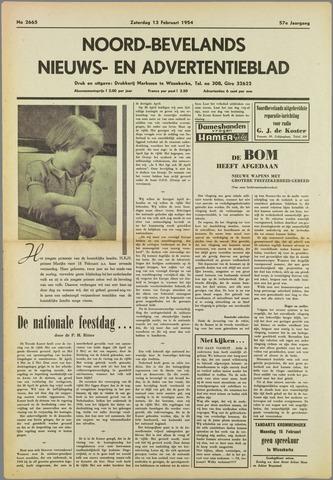 Noord-Bevelands Nieuws- en advertentieblad 1954-02-13