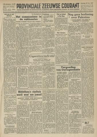 Provinciale Zeeuwse Courant 1947-11-29