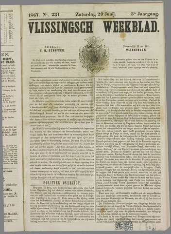 Vlissings Weekblad 1867-06-29