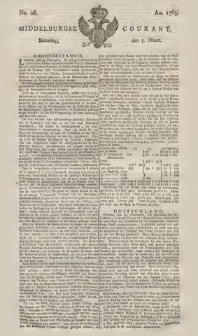 Middelburgsche Courant 1763-03-05