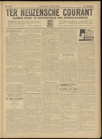 Ter Neuzensche Courant. Algemeen Nieuws- en Advertentieblad voor Zeeuwsch-Vlaanderen / Neuzensche Courant ... (idem) / (Algemeen) nieuws en advertentieblad voor Zeeuwsch-Vlaanderen 1932-05-25