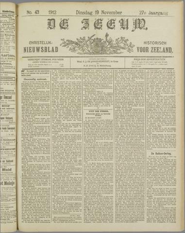 De Zeeuw. Christelijk-historisch nieuwsblad voor Zeeland 1912-11-19