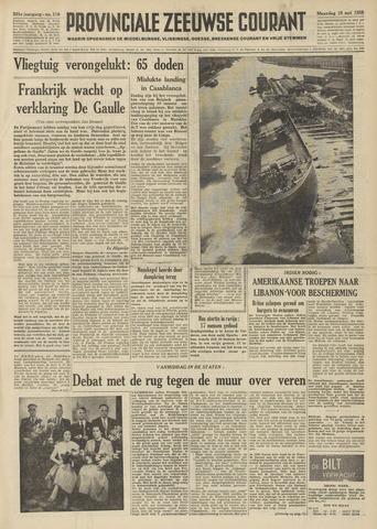 Provinciale Zeeuwse Courant 1958-05-19