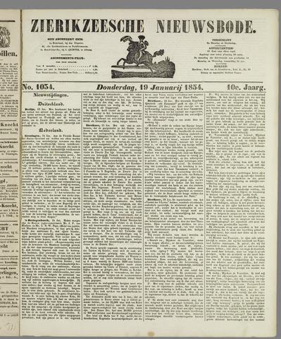 Zierikzeesche Nieuwsbode 1854-01-19