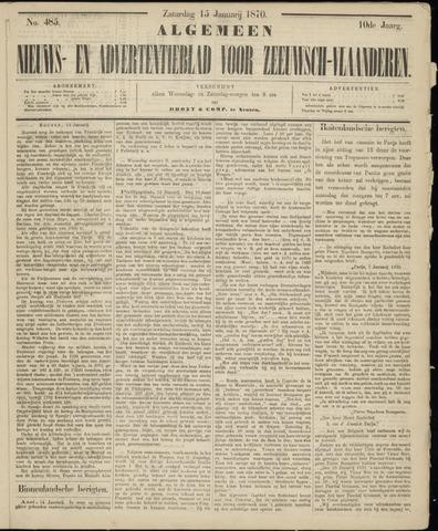 Ter Neuzensche Courant. Algemeen Nieuws- en Advertentieblad voor Zeeuwsch-Vlaanderen / Neuzensche Courant ... (idem) / (Algemeen) nieuws en advertentieblad voor Zeeuwsch-Vlaanderen 1870-01-15
