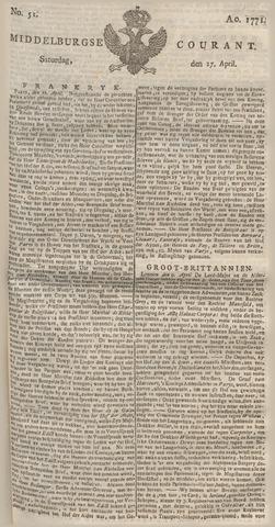 Middelburgsche Courant 1771-04-27