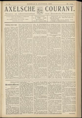 Axelsche Courant 1938-08-02