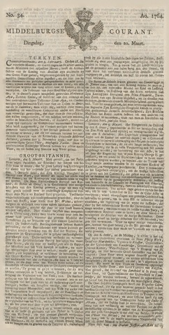 Middelburgsche Courant 1764-03-20