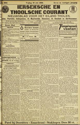 Ierseksche en Thoolsche Courant 1929-07-19