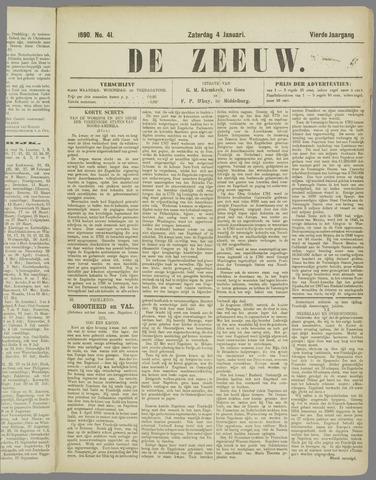 De Zeeuw. Christelijk-historisch nieuwsblad voor Zeeland 1890-01-04