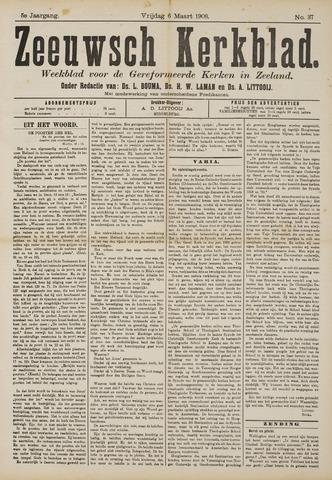 Zeeuwsche kerkbode, weekblad gewijd aan de belangen der gereformeerde kerken/ Zeeuwsch kerkblad 1908-03-06