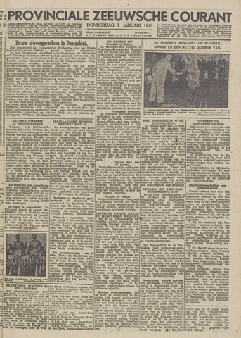 Provinciale Zeeuwse Courant 1943-01-07