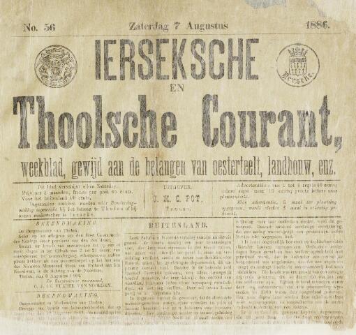 Ierseksche en Thoolsche Courant 1886-08-07