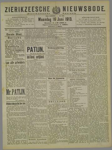 Zierikzeesche Nieuwsbode 1913-06-16