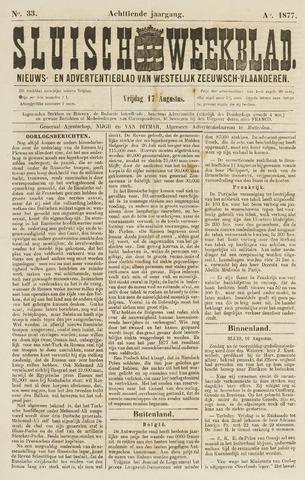 Sluisch Weekblad. Nieuws- en advertentieblad voor Westelijk Zeeuwsch-Vlaanderen 1877-08-17