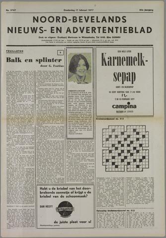 Noord-Bevelands Nieuws- en advertentieblad 1977-02-17