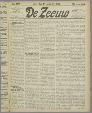 De Zeeuw. Christelijk-historisch nieuwsblad voor Zeeland 1917-08-18