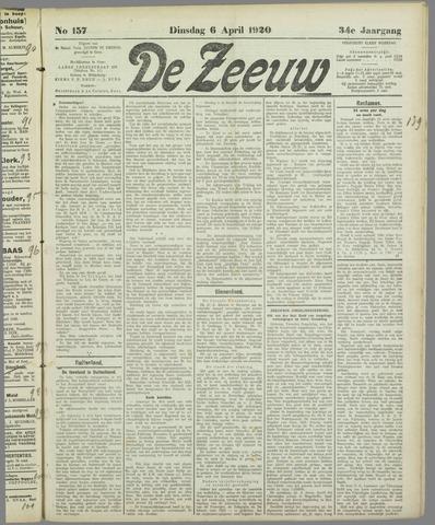 De Zeeuw. Christelijk-historisch nieuwsblad voor Zeeland 1920-04-06