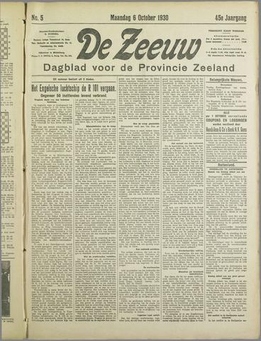 De Zeeuw. Christelijk-historisch nieuwsblad voor Zeeland 1930-10-06