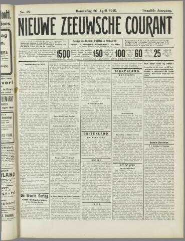 Nieuwe Zeeuwsche Courant 1916-04-20