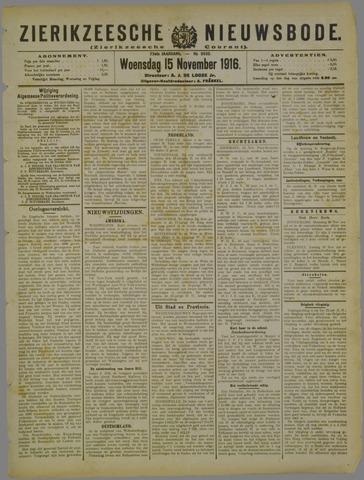 Zierikzeesche Nieuwsbode 1916-11-15